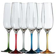 Фото прозрачные бокалы «party», цветные ножки, 4,3х23,5 см, 6 шт