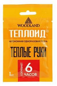 Фото грелка для рук одноразовая woodland теплоид на 6 часов